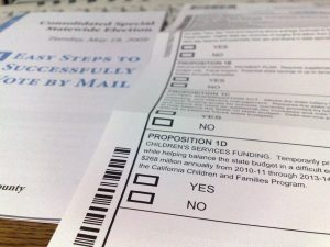Voter ballots to vote by mail