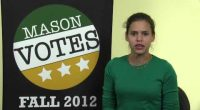 The deadline to register to vote in Virginia is Monday October 15, 2012. Lauren Poe with Mason Votes explains how you can register to vote on campus, where you can […]