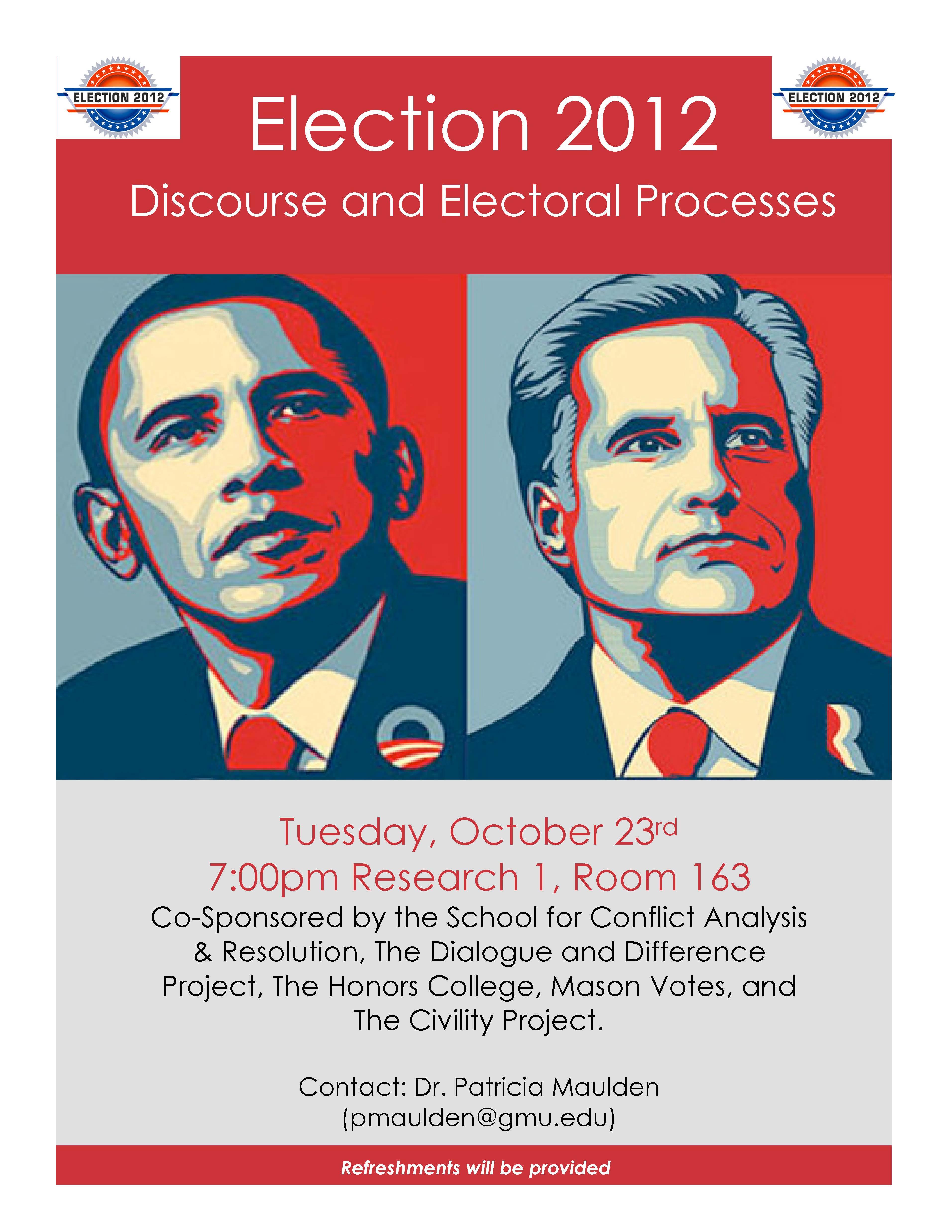Election 2012: Discourse & Electoral Processes | Mason Votes