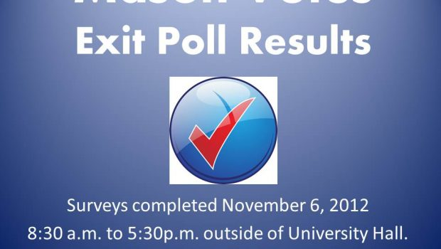 November 6, 2012 Mason Votes conducted exit polling outside of George Mason University&#8217;s University Hall polling place. 368 people participated in the poll. Here are the results.