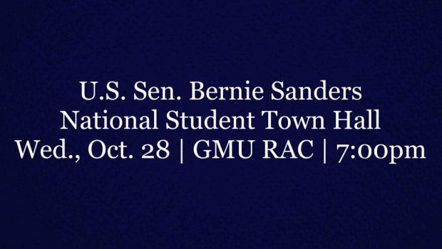 U.S. Sen. Bernie Sanders will be hosting a National Student Town Hall meeting with George Mason University students. The town hall meeting will be live streamed online to be viewed on college campuses […]