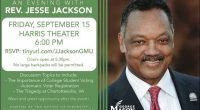 Join the Office of Diversity, Inclusion, and Multicultural Education and Student Involvement for an evening with Rev. Jesse Jackson, founder and president of the Rainbow PUSH (People United to Save […]