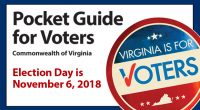 "Courtesy of the Virginia State Board of Elections. Click here to download the ""Pocket Guide for Voters"" as a PDF. Learn more: vote.virginia.gov"