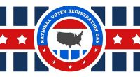 Happy National Voter Registration Day! No time like NOW to make sure you are registered to vote or to update your voter registration with your current address. Visit vote.gov to […]