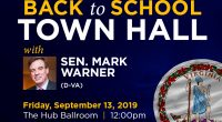*UPDATE: Click here to watch video from this event. _________________ Mason students, faculty, and staff are invited to join Senator Mark R. Warner (D-VA) for a Back to School Town […]
