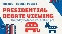 The final 2020 presidential debate is happening tonight, Thursday, October 22, at 9pm! If you're on the Fairfax campus, stop by the Corner Pocket in The Hub (middle level) to […]