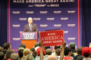 Mike Pence addresses supporters on November 5, 2016.