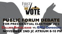 Student Government, Weekends at Mason, Mason Votes and Alpha Phi Alpha Fraternity Inc. are hosting a student debate between the College Republicans and George Mason University Democrats. This will be […]