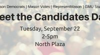 On Tuesday, September 2210 candidates running for election or re-election on November 3, 2015 will attend Meet the Candidates Day presented by Mason Votes, George Mason Democrats, RepresentMason and GMU […]