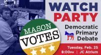 Join Mason Votes for a Debate Watch Party in the JC Atrium at 8pm on Tuesday, February 25th as the Democratic primary candidates square off LIVE on CBS. Enjoy #FREEpizza […]