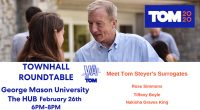 JUST ANNOUNCED: Democratic primary hopeful Tom Steyer will host a town hall event featuring campaign surrogates Rose Simmons, Tiffany Boyle, and Nakisha Graves King at George Mason University on Wednesday, […]